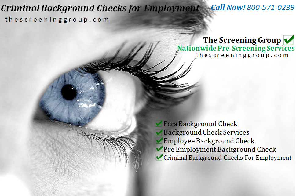 criminal background checks for employment